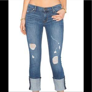 Hudson Muse Crop 5 Pocket Skinny Jeans  Size 28